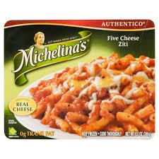 Five Cheese Marinara Sauce On Cavatappi Pasta With Chicken Meatballs - michelinas five cheese ziti 8 5 oz meijer com