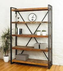 bookcase designs vintage metal and wooden industrial bookcase designs