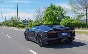 Lamborghini Aventador Matte Black - matte black lamborghini aventador roadster rolling into restyle