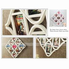 chic multi picture collage photo frame shabby wall hanging decor