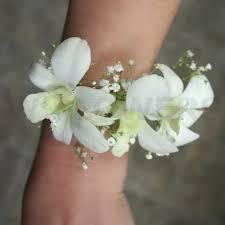 Prom Wrist Corsage White Orchids Prom Wrist Corsage W Flowers Ottawa