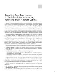 summary recycling best practices u2014a guidebook for advancing