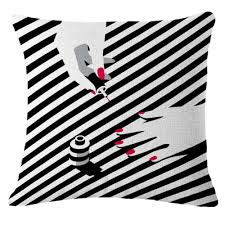 design kissenbez ge einfache design billig kissenbezüge 45 45 cm schwarzen und weißen