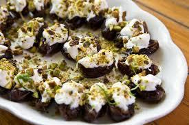 creme fraiche cuisine stuffed dates with pistachio crème fraiche appy bistro