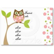 cute owl mommy calling card business card template unique