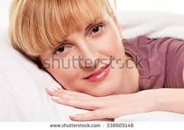 Bed Eyes Sleeping Blonde Stock Photo 27665953 Shutterstock