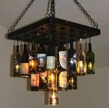 Wine Bottle Chandeliers Bottle Chandelier Diy Eimat Co