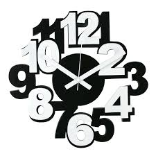 wall clocks umbra ribbon clock cm modern wall clock wood wall