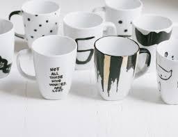 design coffee mug 50 diy sharpie coffee mug designs to try bored art