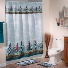 Sailboat Shower Curtains Lighthouse Shower Curtain Foter