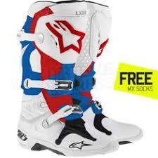 motocross bike boots alpinestars tech 1 boots black tech boots and black