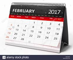 Modern Desk Calendar by 2017 Calendar February Stock Photos U0026 2017 Calendar February Stock