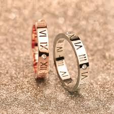 wedding band brand luxury brand stainless steel jewelry titanium steel rings