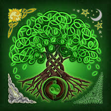 circle celtic tree of posters by foxvox redbubble