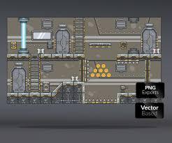 spaceship floor plan spaceship platform set royalty free game art