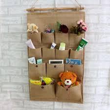 housekeeping home organization hanging storage bags fabric pockets