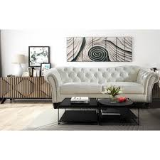 jane leather craft furniture 9121ivs mona sofa in tufted ivory