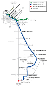 Map Of Minnesota Cities Metro Blue Line