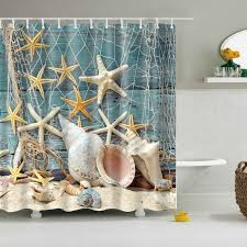 Custom Bathroom Shower Curtains Waterproof Bath Curtains Modern Shells Custom Distinctive
