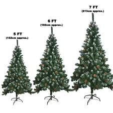 artificial tree with snow tips and cones 5ft ebay