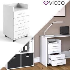 Schreibtisch Rollcontainer Vicco Rollcontainer Weiß Aktenschrank Büroschrank Real