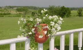 Cool Planters Beautiful Deck Rail Planters With Dull White Painted Wood Porch