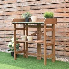 Gardening Table Potting Bench Table Garden Plants Deck Patio Steel Mesh Wire