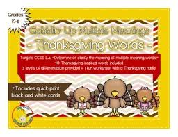 free gobblin up meaning words a thanksgiving activity