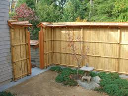 Lowes Backyard Ideas by Exterior Design Metal Lowes Fencing With Dark Bamboo Fencing For