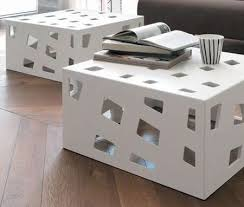 Coffee Table Cube Internally Lit Cutout Consoles Cube Coffee Tables