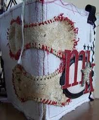 baseball photo album baseball heart hang from rearview mirror baseball by shabbyworks