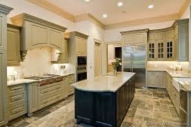 Slate Grey Kitchen Cabinets Traditional Green Kitchen Cabinets With Slate Floor And Black
