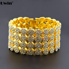 aliexpress buy nyuk gold rings bling gem men and women gold color 4 row brilliant cut cz cubic