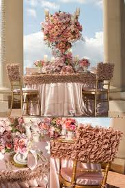 table linens for weddings frilly pink wedding linens the banding effect is a