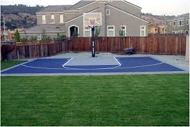 small backyard basketball courts back yard court designs afbead