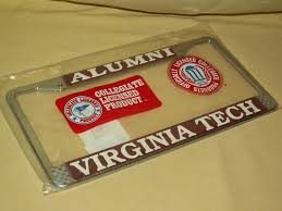msu alumni license plate frame virginia tech license plate frame alumni new 1995 officially