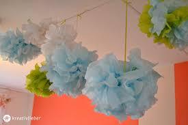pompoms deko deko pinterest pompoms partydeko und farbenfroh