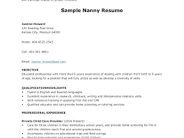 cover letter exles for resume nanny cover letters brilliant cover letter for a nanny position with