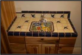 kitchen counter tile ideas ideas for using mexican tile in your kitchen or bath countertop