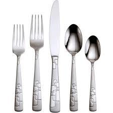 Oneida Kitchen Knives Oneida Quadratic 20 Piece Flatware Set Shoptv