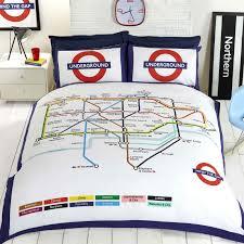 World Map Bedding London Underground Tube Map Duvet Cover Set Bedding Reversible