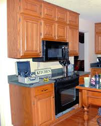 inspiring idea of microwave insert within custom kitchen cabinets