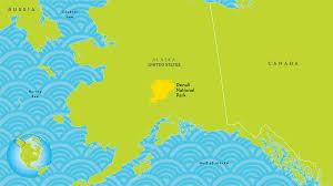 National Parks Us Map Denali National Park And Preserve