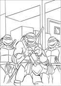 leonardo ninja turtles coloring free printable