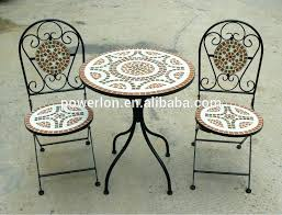 tile top patio table and chairs tiled table garden furniture alluring mosaic bistro table and chairs