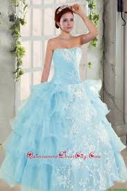 strapless ruffles elegant quinceanera dress and fashionable high