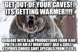 Bear Cocaine Meme - get out of your caves its getting warmer on memegen