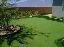 turf grass folsom california home putting green backyard design
