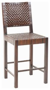 saddler wood and woven leather counter stool southwestern bar