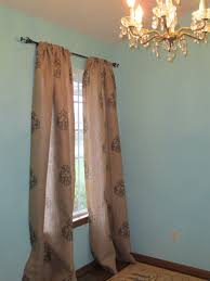 stenciled burlap curtains restoration redoux